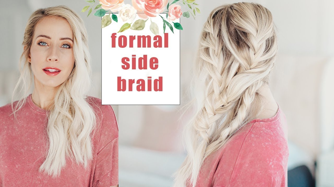 Wedding Hairstyles | Beautiful Formal Side Braid | Twist Me Pretty ...
