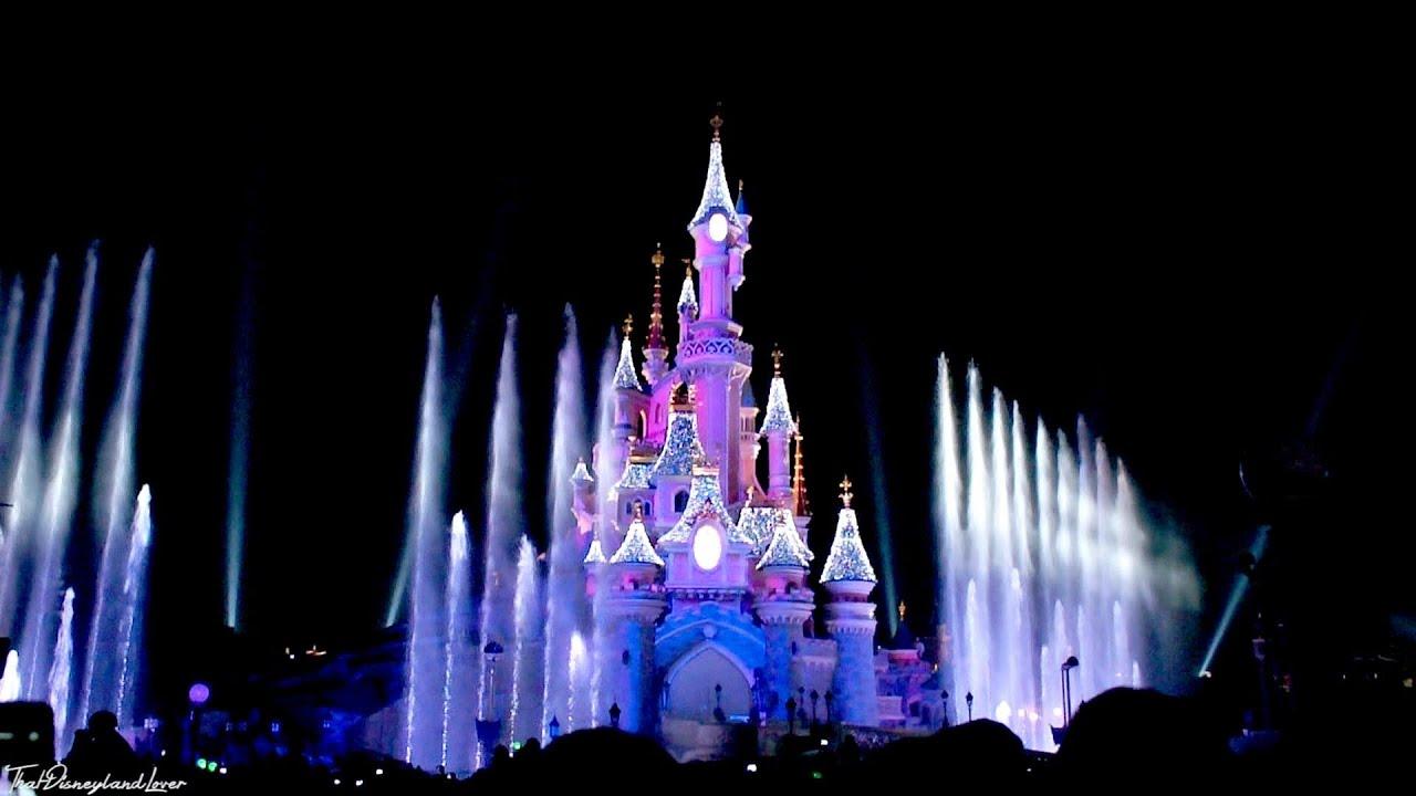Disneyland Paris Christmas Castle Lighting Show! (Disneyland Paris ...