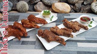 Pakora chops and Crispy mutton chops - 2 types of fried mutton chops - Nida
