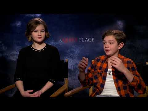 Millicent Simmonds & Noah Jupe: A QUIET PLACE