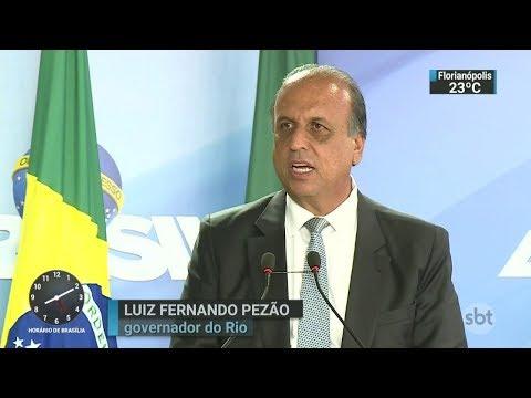 Pezão admite que o RJ não consegue deter as facções criminosas | SBT Brasil (16/02/18)