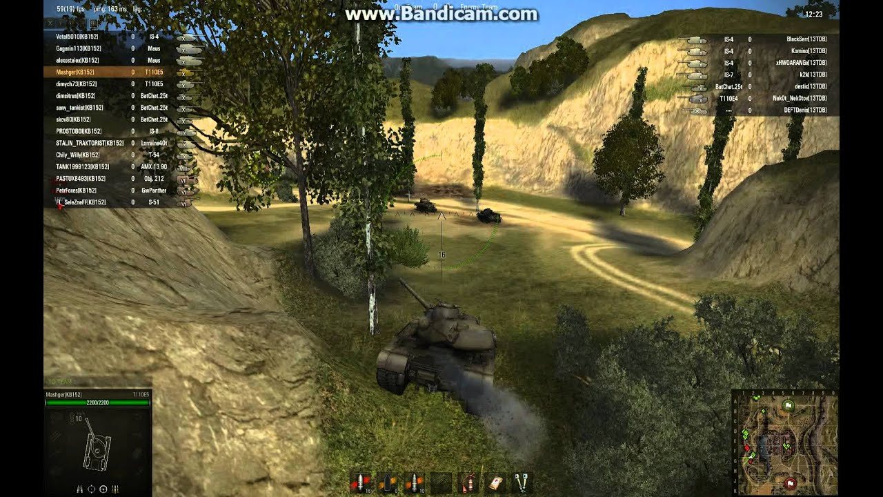 World of Tanks clan [KB152] global map T110E5 - YouTube