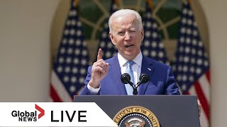 Biden reveals strategy to withdraw United States military workers from Afghanistan|LIVE  | NewsBurrow thumbnail