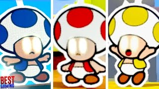 Paper Mario: Color Splash - All Three Chosen Toad Locations