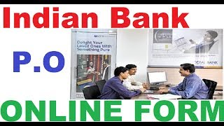 Indian Bank PO Online Form Indian Bank Probationary Officer Recruitment 2018