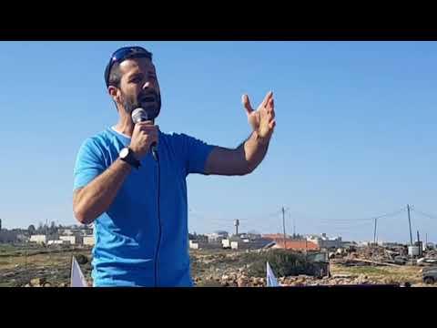 Rabbi Jeremy Gimpel -Rally for Jewish Rights in Judea - Netiv Ha'Avot