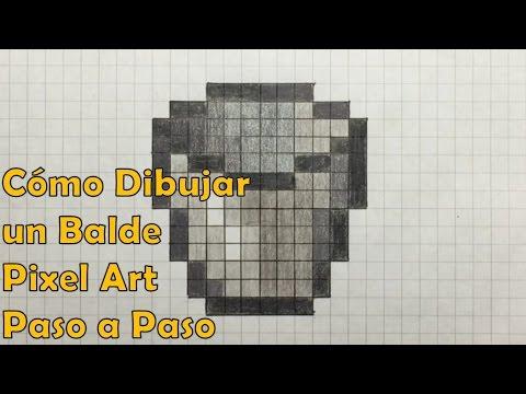 Cmo Dibujar un Balde  Cubeta MINECRAFT Pixel Art PASO A PASO