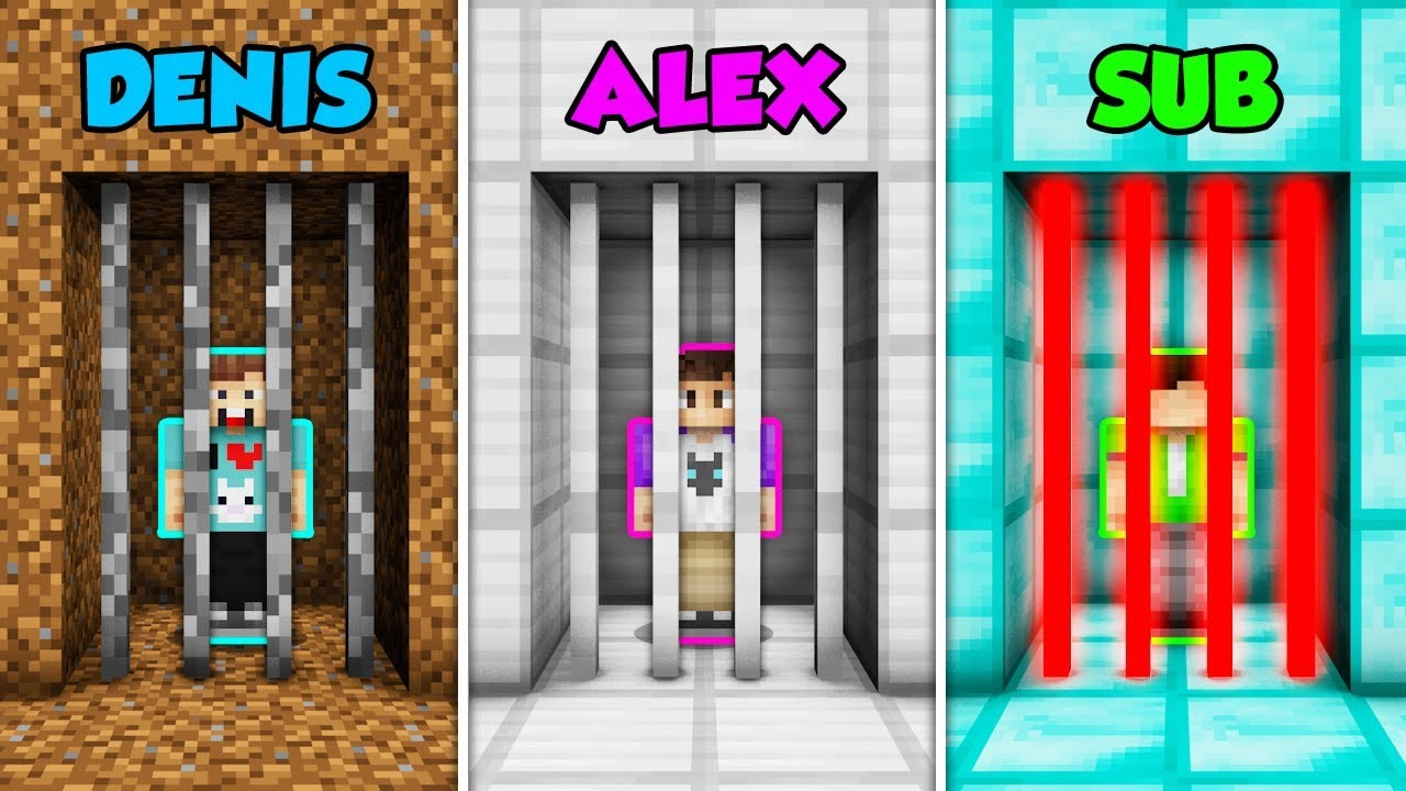 denis-vs-alex-vs-sub-prison-escape-in-minecraft