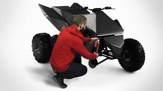 Tesla Квадроцикл своими руками. Подвеска, промежуточный вал, тест. часть 2