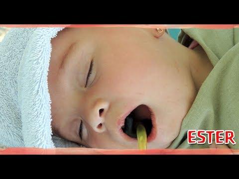 A bebê Ester pôde ficar tranquila com seus novos dentinhos