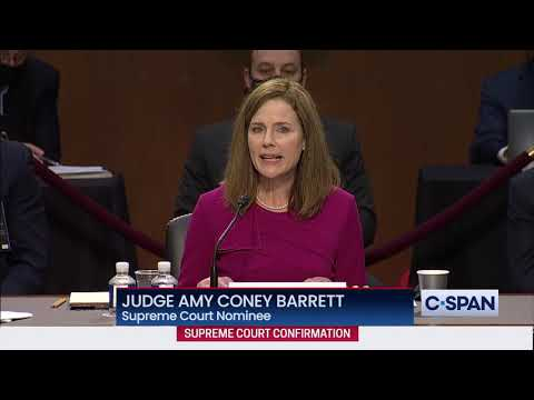 Judge Amy Coney Barrett Full Opening Statement at Supreme Court Confirmation Hearing, From YouTubeVideos
