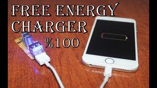 Telefonu Sınırsız Şarj Eden Şarj Aleti Yapımı | FREE ENERGY