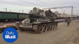 30 legendary T-34-85 tanks returned to Russia by Laos
