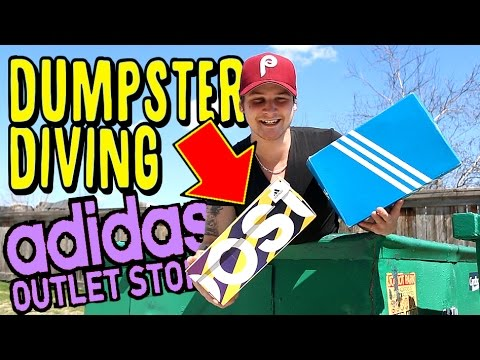 ADIDAS OUTLET DUMPSTER DIVING!!! CRAZY RARE ADIDAS SNEAKER ...