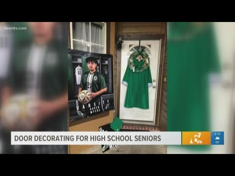 Reasons to Smile | Door decorating for high school seniors