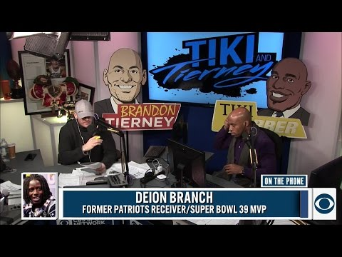 Deion Branch joined Tiki & Tierney