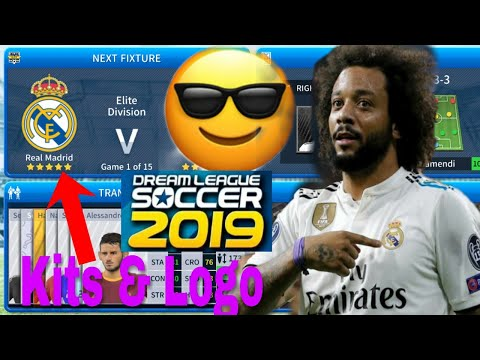 Dream League Soccer 2019 How To Make Real Madrid Kits & Logo 2019/2020.