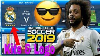 How To Create Real Madrid Team 2019 Kits & Logo | Dream League Soccer 2019
