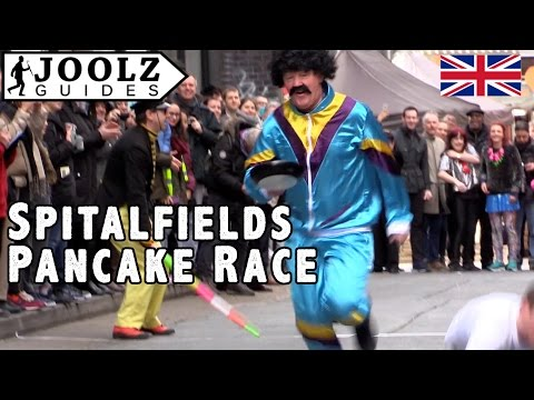 Great Spitalfields Pancake Race - London Uk