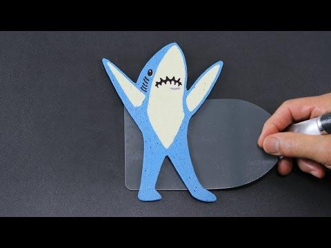 Pancake Art - Left Shark (Katy Perry | Teenage Dream | Super Bowl 2015 Halftime) by Tiger Tomato