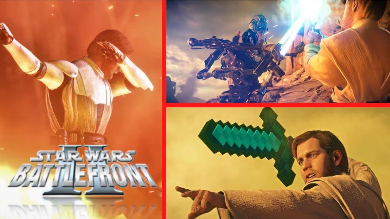 Obi-Wan Kenobi Is Very Aggressive! Battlefront 2 Funny Moments