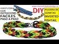 COMO HACER PULSERA DE GOMITAS INVERTED FISHTAIL CON UNA PINZA SIN TELAR TUTORIAL ESPAÑOL DIY