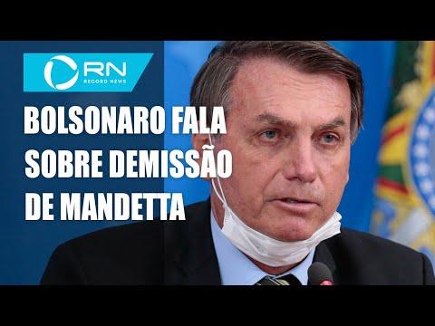 Bolsonaro fala sobre a demissão de Luiz Henrique Mandetta