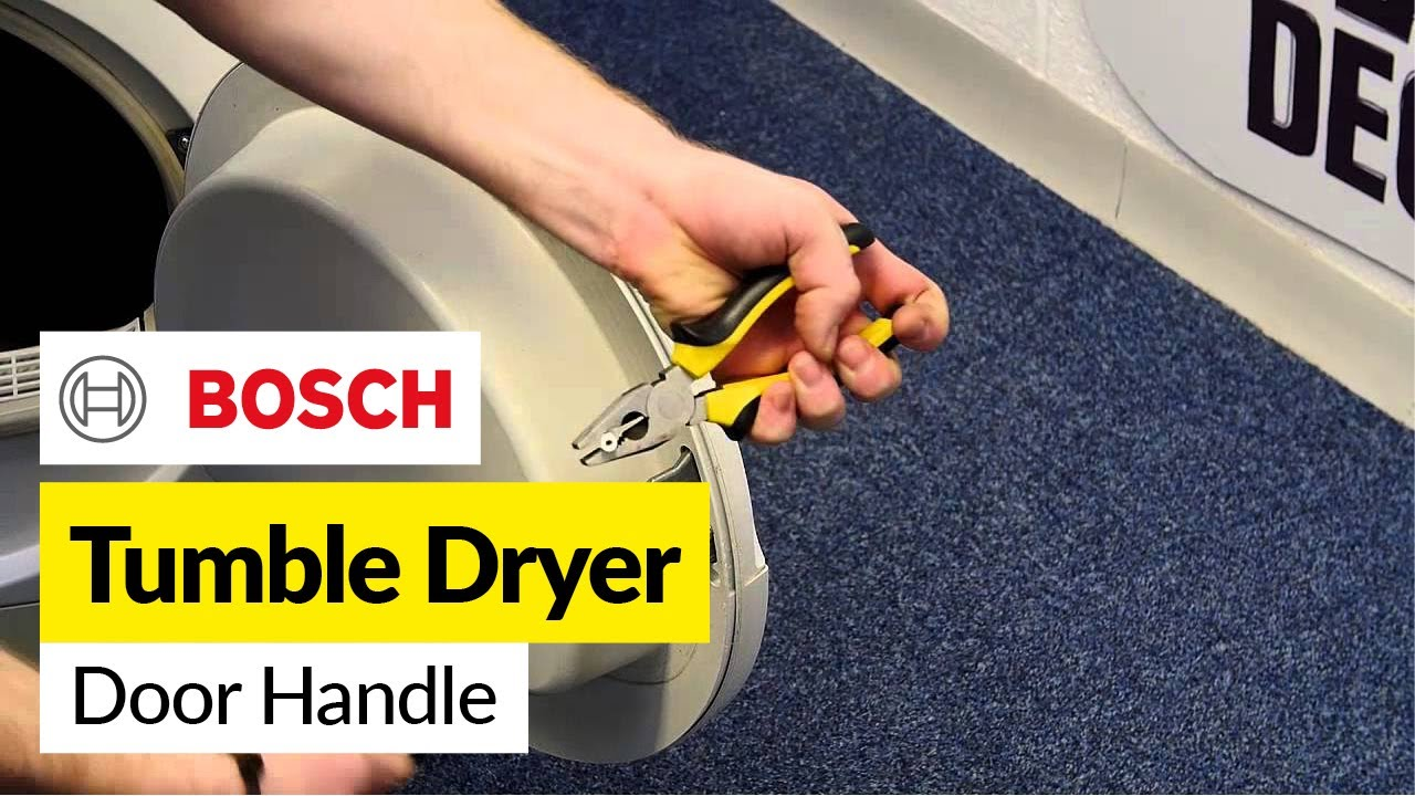 How To Replace A Tumble Dryer Door Handle Bosch Youtube