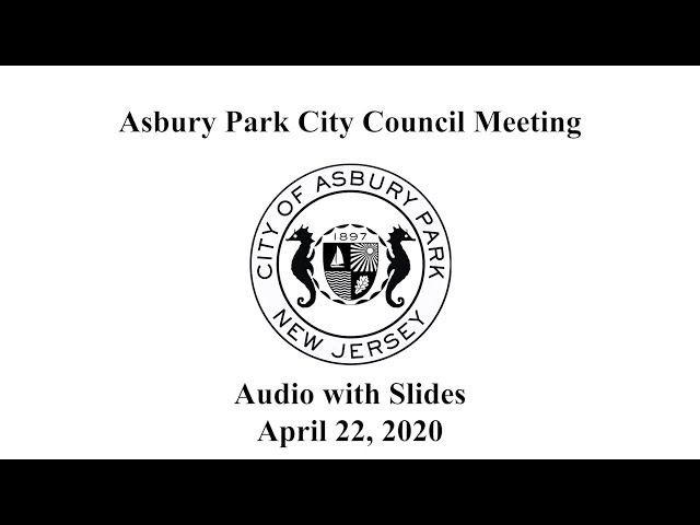Asbury Park City Council Meeting - April 22, 2020