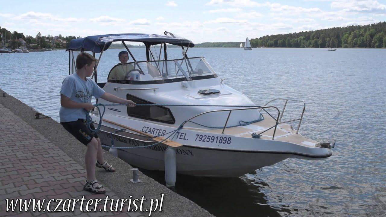 Czarter łodzi Motorowej Na Mazurach Bez Uprawnień