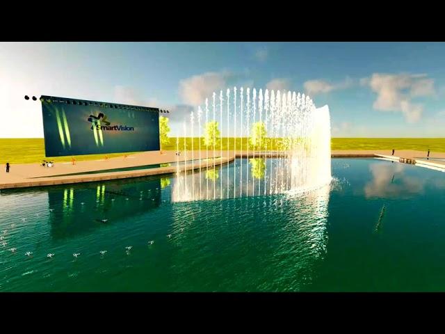 Iraq fountain show design by Smart Vision - Thiết kế mô hình nhạc nước