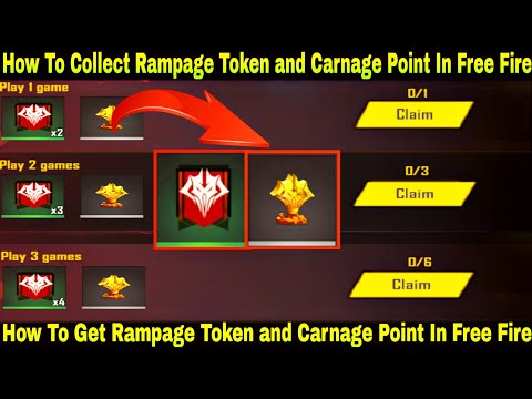 How To Collect Rampage Token In Free Fire How To Get Rampage
