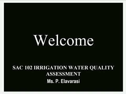 Estimation Of Carbonate And Bicarbonate In Irrigation Water