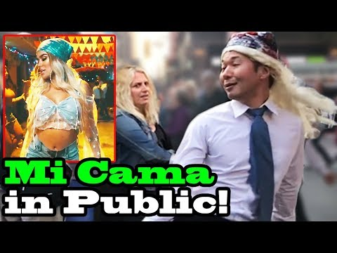 MI CAMA - Karol G - SINGING IN PUBLIC!!
