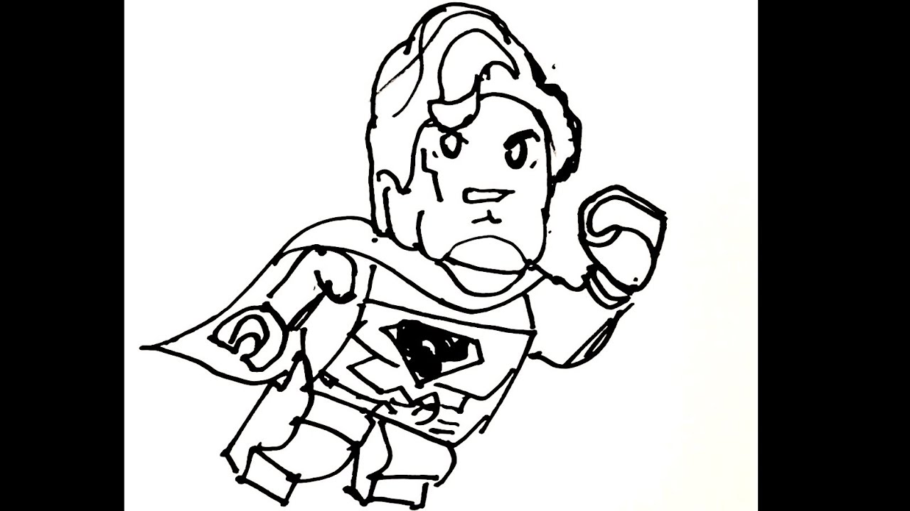 how to draw lego superman youtube