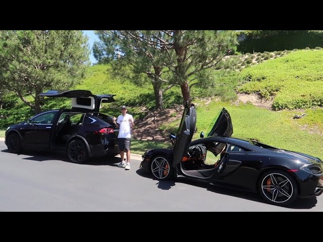 WHICH CAR IS FASTER?! (McLaren vs. Tesla)