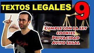 ⚖ Cómo hacer los textos legales de una web ⚖ Cookies, Privacidad y Aviso Legal - Actualizado.mp3