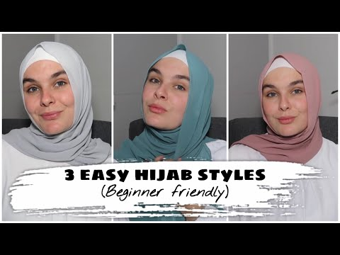 3 EVERYDAY HIJAB STYLES - EASY FOR BEGINNERS TUTORIAL || Beauty and Hijab Series. thumbnail