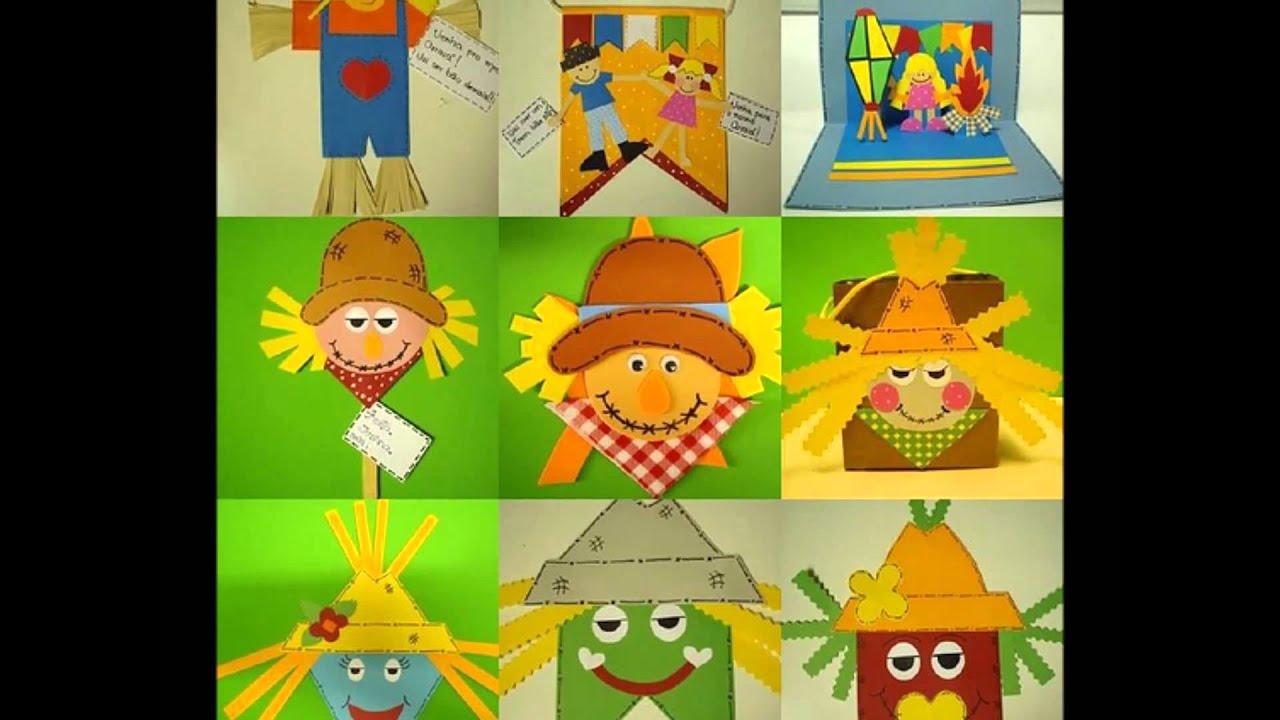 Muitas ideias para decoraç u00e3o de sua Festa Junina YouTube -> Decoração Tnt Festa Junina