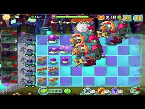 Plants vs Zombies 2: Neon Mixtape Tour - Day 30 Walkthrough