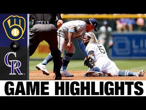 Brewers vs. Rockies Game Highlights (6/20/21)   MLB Highlights