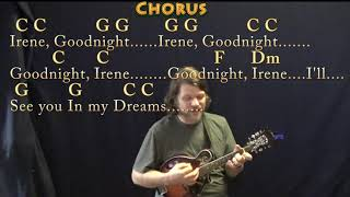 Goodnight, Irene (Traditional) Mandolin Cover Lesson in C with Chords/Lyrics