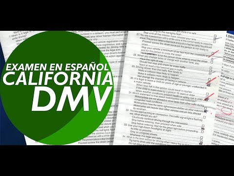 Examen de manejo de California 2016 2017 para hispanos