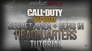 SECRET AREA OUT OF MAP + GUNS IN HEADQUARTERS GLITCH | Call of Duty World War 2 | Tutorial