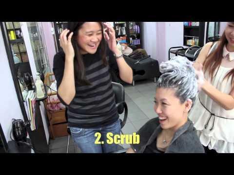 Singapore neighbourhood hair salon, wash & blow for $12!