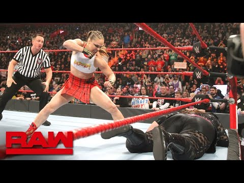 มวยปล้ำหญิง พากย์ไทย  Ronda Rousey and Natalya vs  Nia Jax and Tamina
