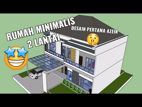 desain rumah minimalis 2 lantai 10x14 dengan 4 kamar tidur