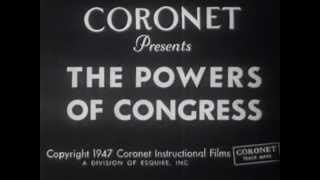 Esquire Inc. - Coronet Magazine - The Powers of Congress - Educational Film - 1947