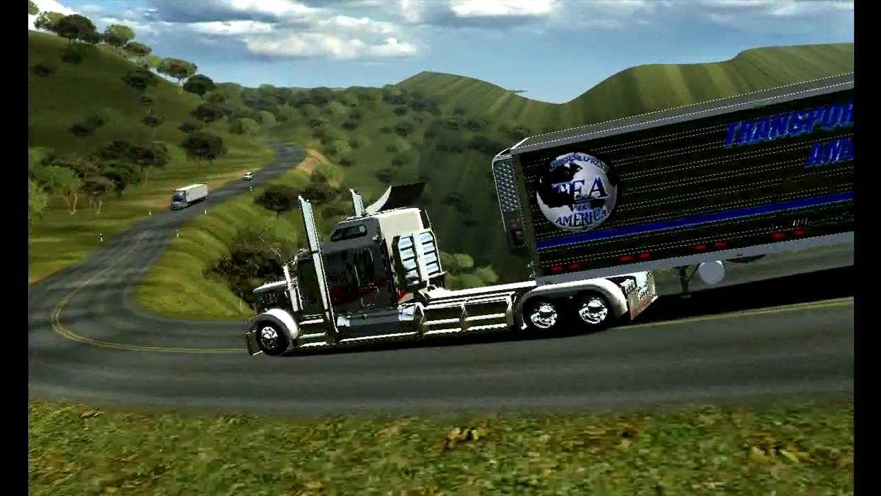 18 Wos Haulin Kenworth W900l Large Car And Exhaust