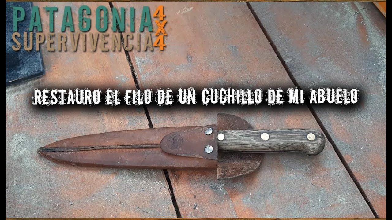 Restauro el filo de un cuchillo de mi Abuelo